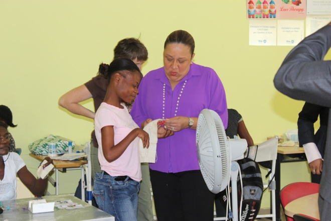 Darlene with Sophia Martelly.