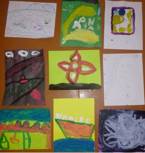 Some of the artwork produced in the open studio.