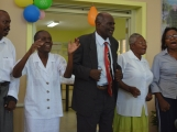 The adult choir composed of therapy patients.