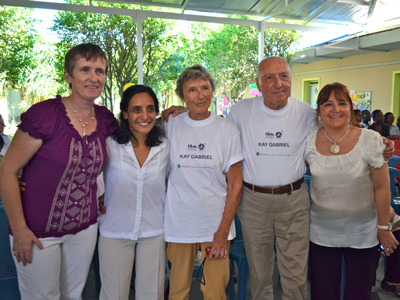 Gena, Norma, Cilla's parents and Nicolas' mother.